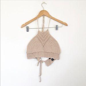 Forever 21 crochet halter top